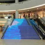 affichage led sur escalier dynamique