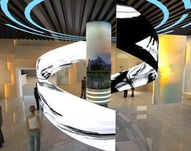 Architectural LED design with LED flexible curved led 2