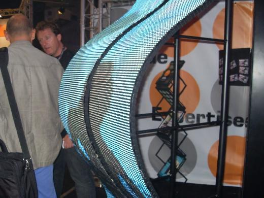 Curved led flexible screen display exhibition