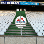 Stadium LED stairs advertising marches escalier publicite EASport stade gerland Olympique lyonnais1