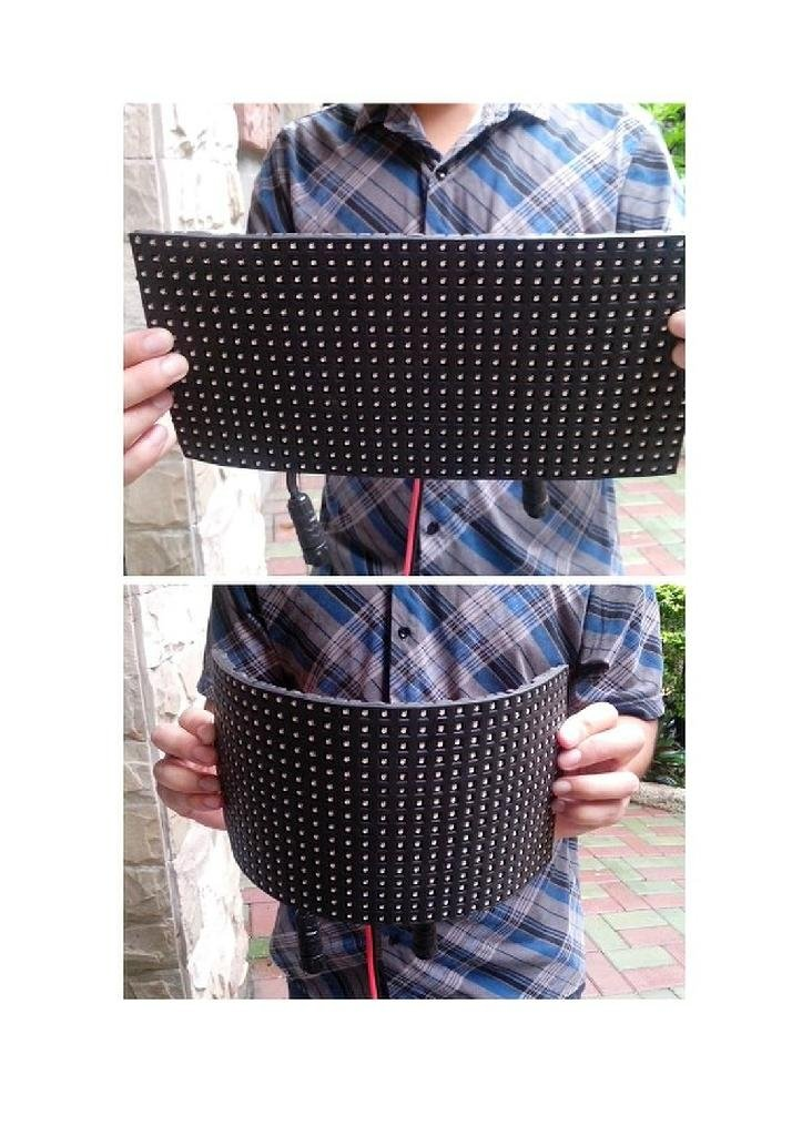 cylinder Flexible LED Display