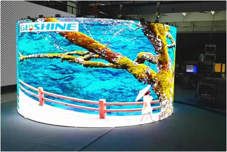 Curved LED screen for flexible display screen