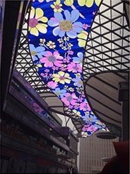 top ceiling LED flower