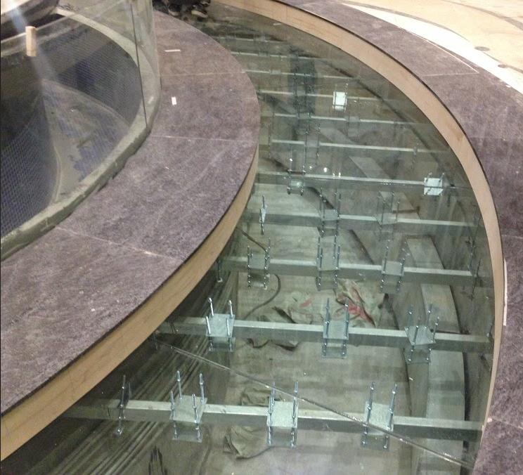 Structure floor transparent led
