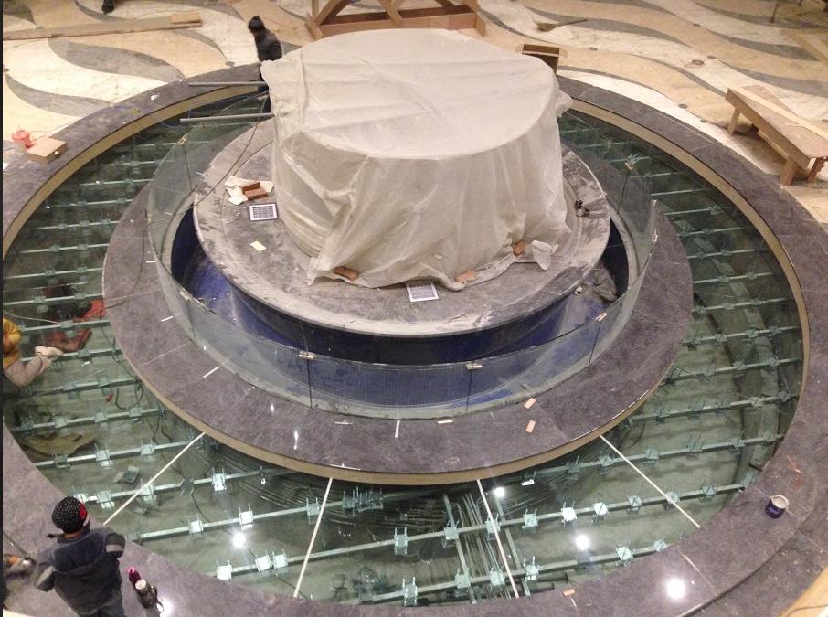 An overview floor transparent led