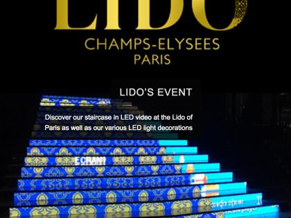 """Светодиодная лестница для помещения с шагом 7 мм для театра """"Лидо и кабаре"""" на  Елисейских полях– Париж"""