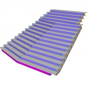 staircase LED lighting indoor LED pitch 7mm