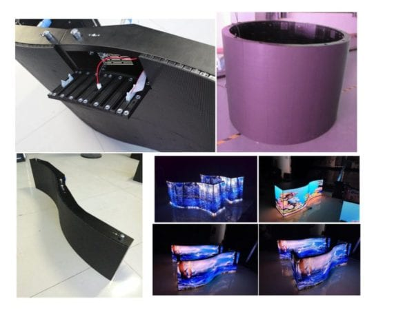 Flexible led screen display