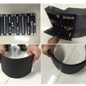 Flexible led screen display pitch 3,4 mm