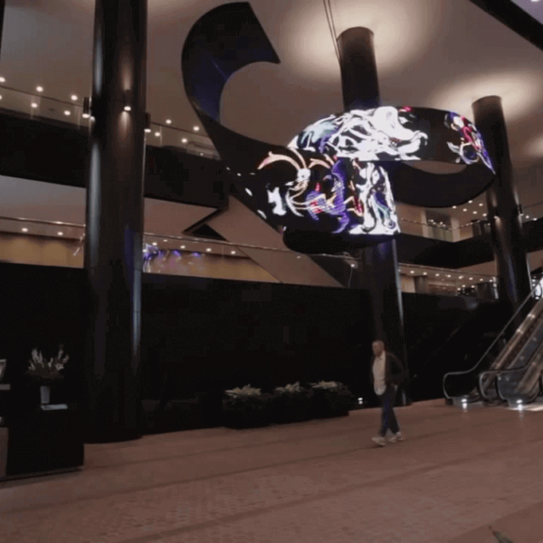 Architectural LED wave Flexible Curved Display