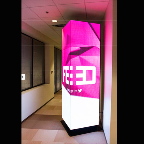 Pink Feed column square LED innovative shape