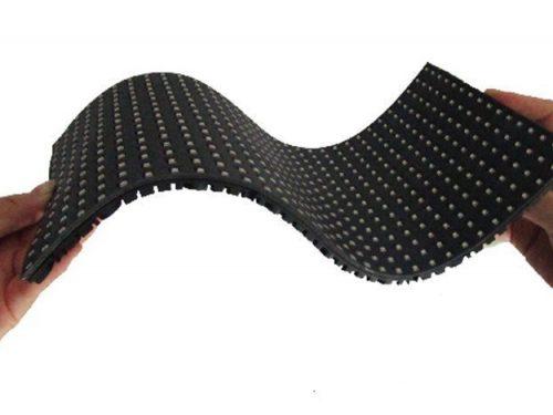 LED flexible courbée