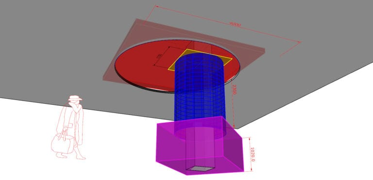 Design 3D drawing process Circle Column flexible bendable LED screen