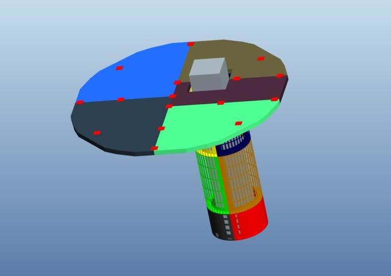 Drawing process Circle Column flexible bendable LED screen display