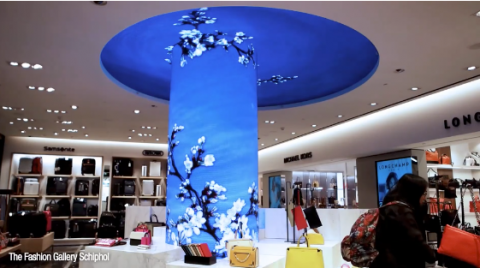 Innovative Installation architectural flexible bendable and curved LED screen display