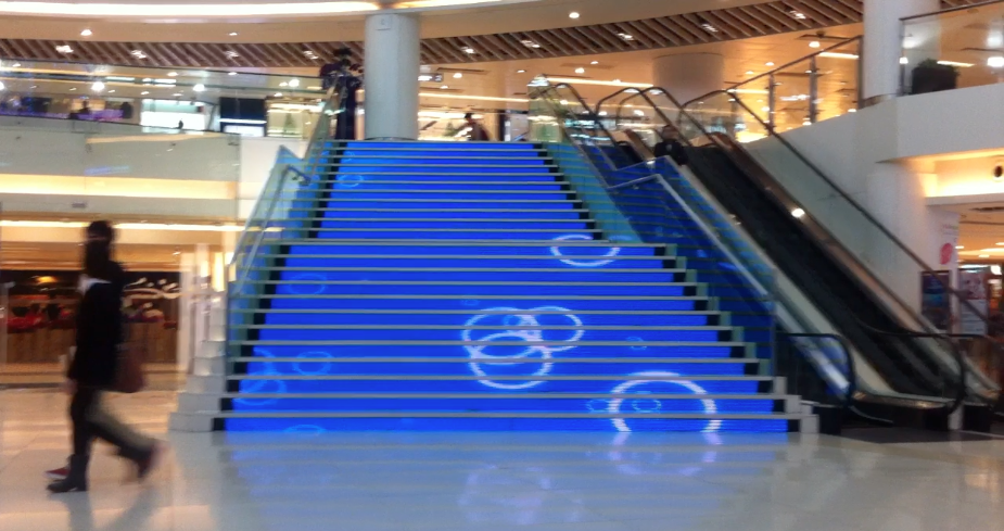 escalier LED installation