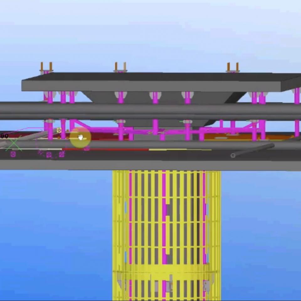 LED flexible bendable cylinder bespoke column 3D zoom