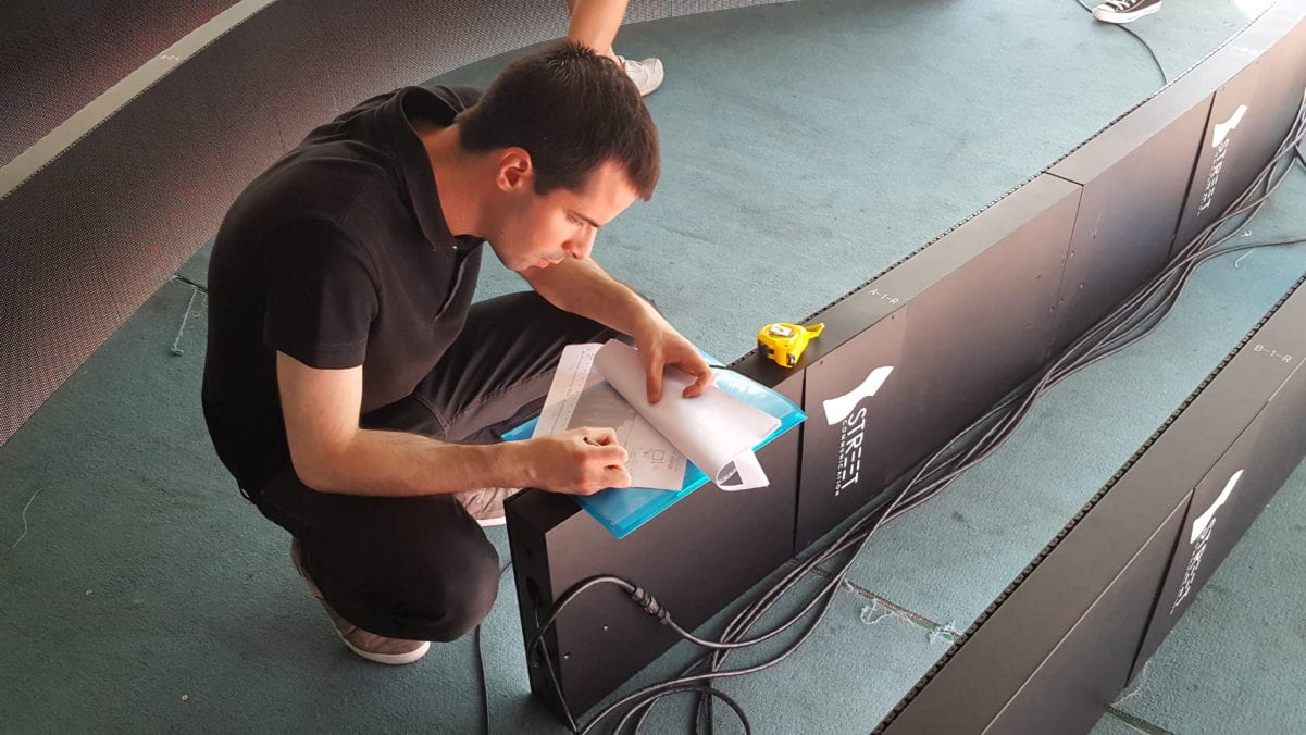 LED installation design flexible bendable bespoke