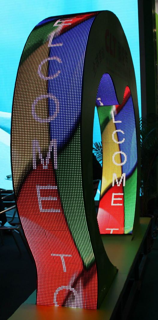 Curved LED display Pitch 10 indoor / Outdoor