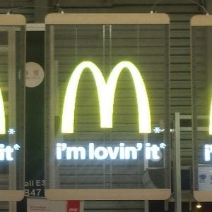 Transparent LED panel spot Mc donald