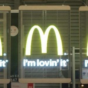 Transparent LED panel spot Mc donald