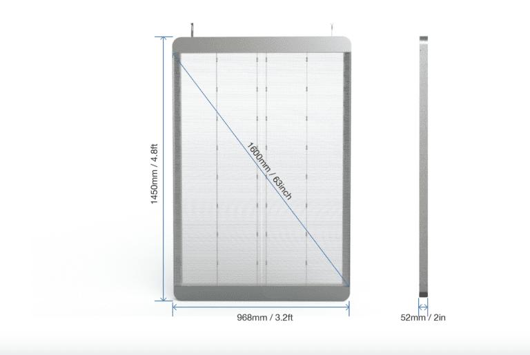 Transparent LED size
