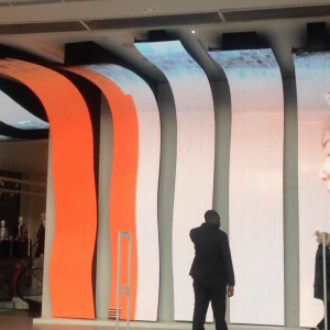 Milano Mango flexible led custom bespoke wave inside store