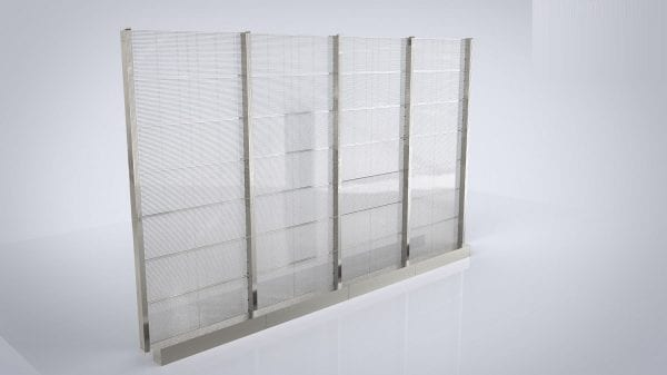 Display LED glass screen transparent