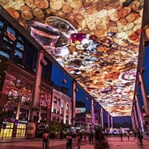 LED ceiling display