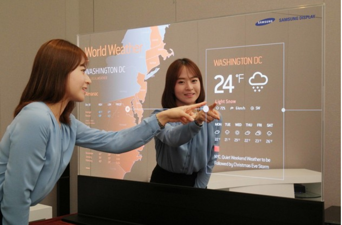 Mirror oled flexible display innovations street for Mirror for lg tv