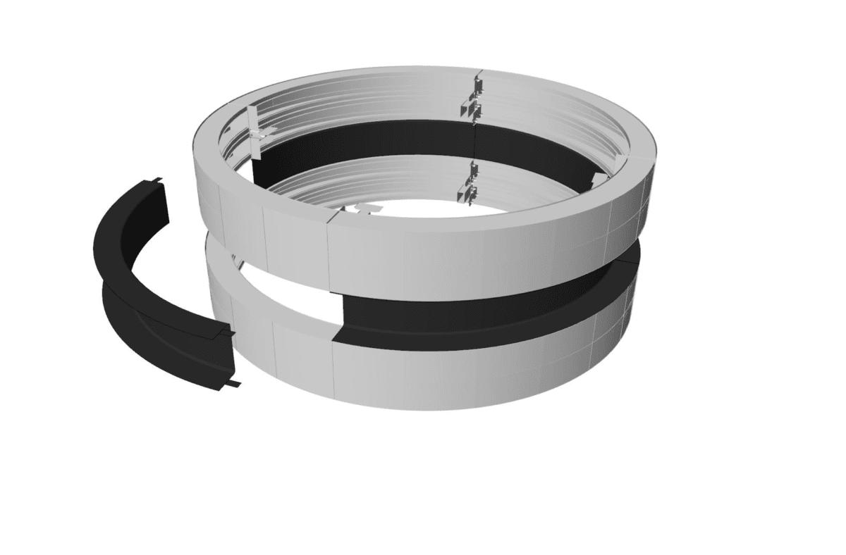 led flexible display column spb