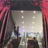 Curved escalator vault led flexible display