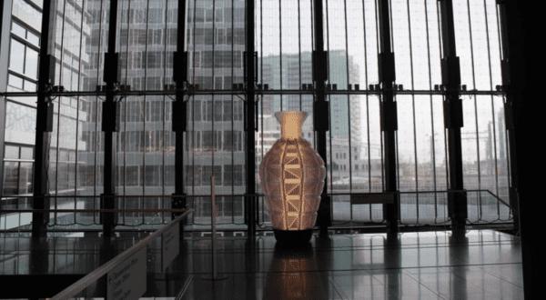 Transparent LED display installation New Babylon