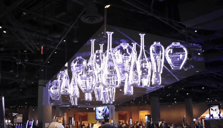 VLC led screen ceiling display