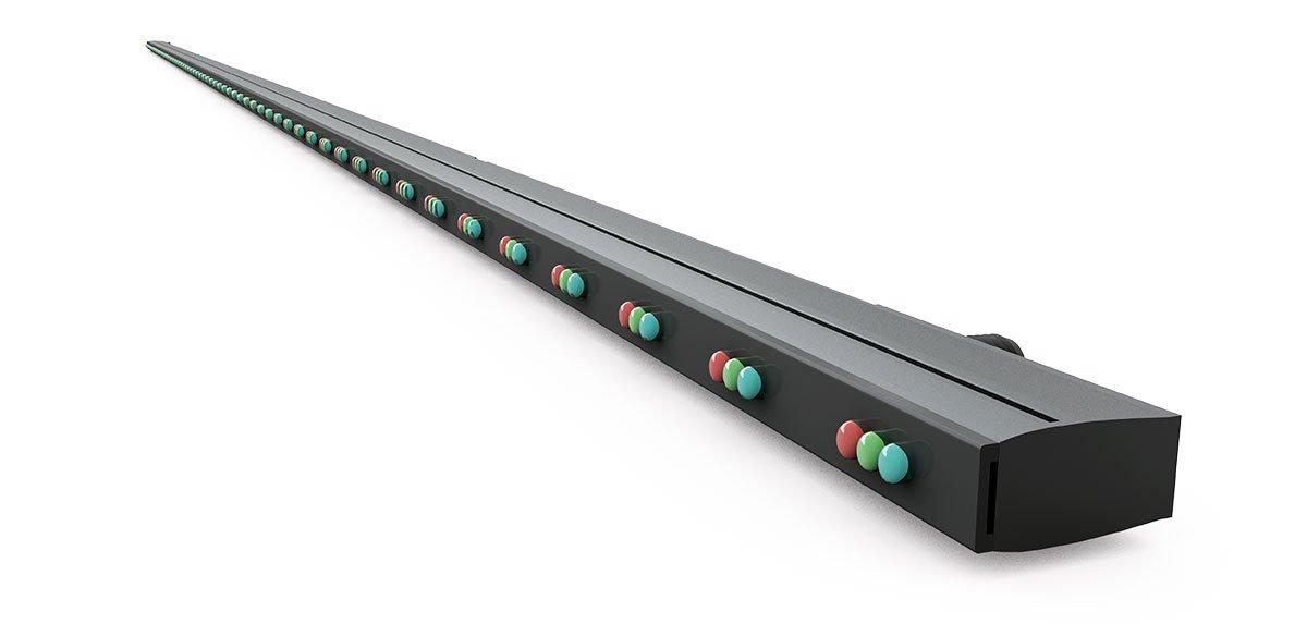 LED Netz Fassade für Trockenmauer