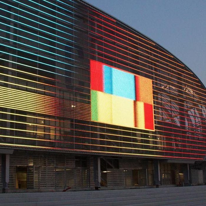LED mesh facade