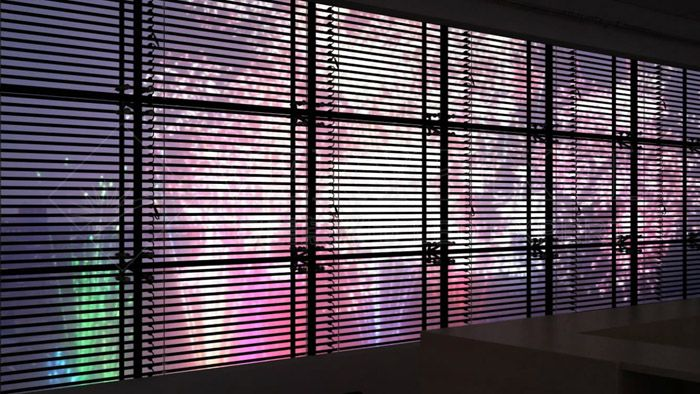 Led Mesh Outdoor Facade Building Street Communication