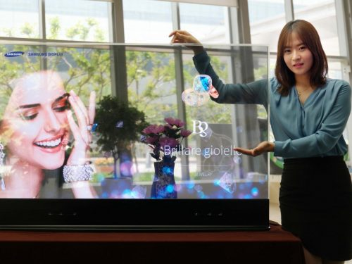 OLED display transparent mirror led screen tv display
