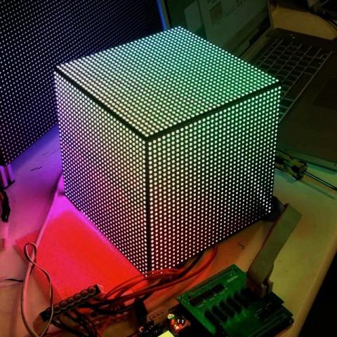 LED cubique