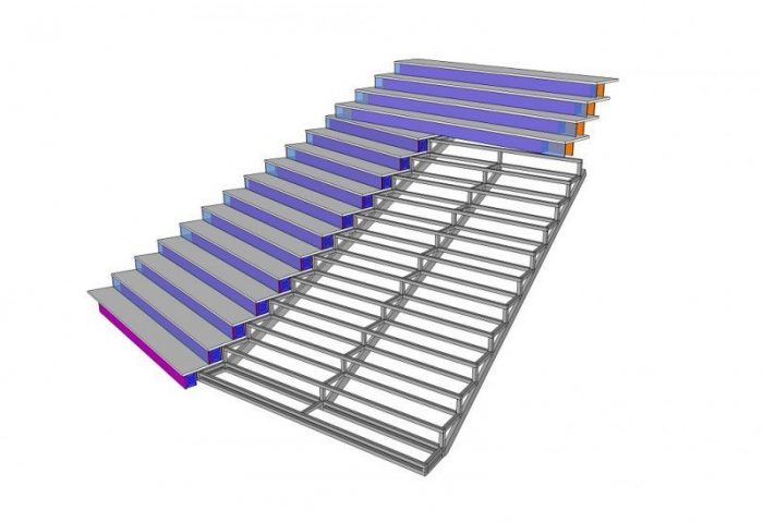Design 3D staircase LED screen