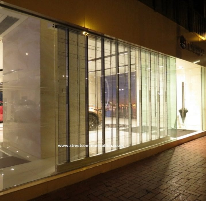 LED transparent glass display