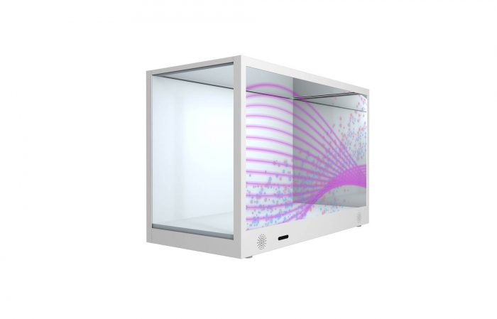 Transparent LCD screen for box display