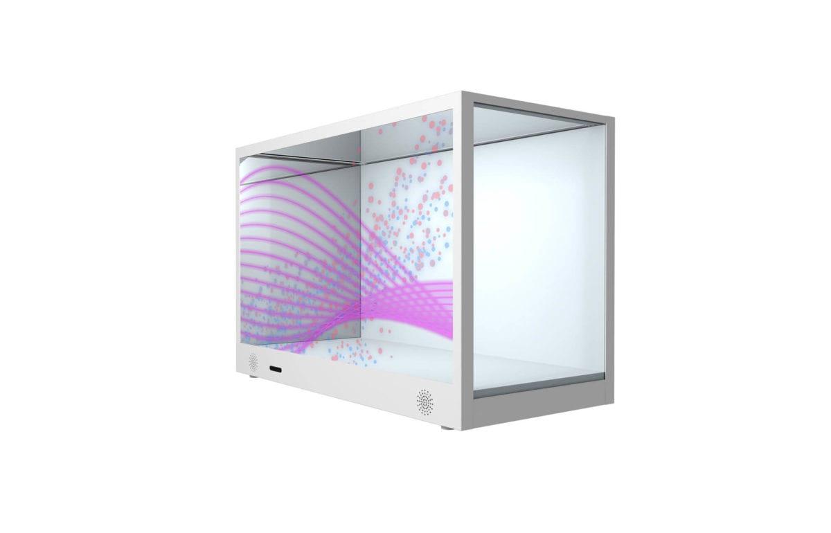 Boîte transparente LCD écran produit LED