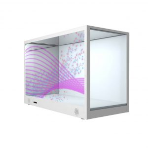 LCD transparent box display product LED screen