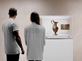 Transparente LCD-Display für museum