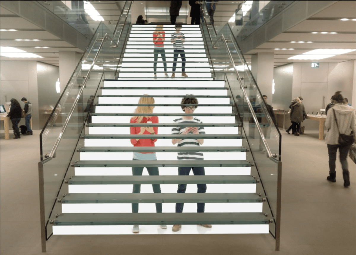 Lighting Basement Washroom Stairs: Creative Led Display On Staircases