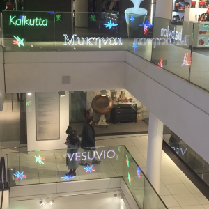 Transparante OLED glas balustrade