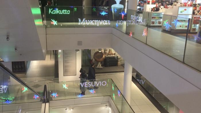 Transparent OLED glass balustrade