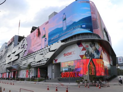 Transparent LED installation for Show DC in Bangkok, Thailand