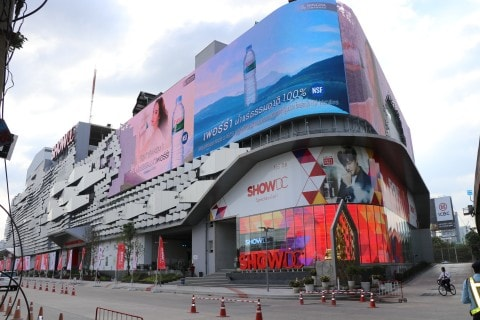 Show DC transparent LED display screen showcase